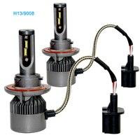 2 Pieces H13 9008 Led COB Auto Car Headlight 40W 9000LM High Low Beam Automobiles Lamp