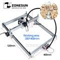 Zonesun 7000 mw as-3 grande área de trabalho 30*40cm diy máquina de gravação a laser cnc máquina a laser brinquedos avançados melhor presente