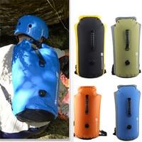 Swimming Bag Waterproof Backpack Inflatable Snorkeling Rafting Drifting Diving Dry Bag Backpack Stuff Sack for Outdoor #2F19