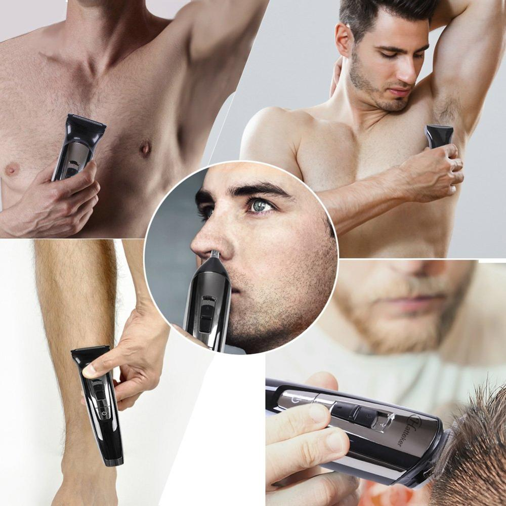 Image 4 - cordless beard trimmer hair cutter electric haircut machine groomer body trimmer male trim rechargeable mustache trimming-in Hair Trimmers from Home Appliances