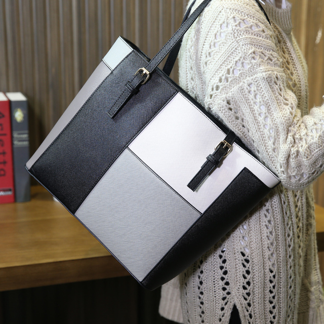 Winter Tote Bag New Fashion PU Leather Women Big Shoulder Bags Zipper Soft Ladies Bag High Quality Bolsas Femininas Neverfull