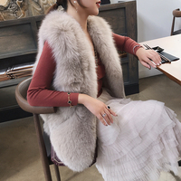 Maylofuer On Sale 100% Real Fox Fur Vest Natural Whole Fox Fur Gilet Women Coats Regular Standard Covered Button Design Jackets