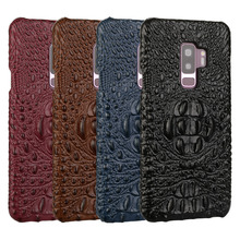 For Samsung Galaxy S9 Plus S9+ Case Luxury Genuine Leather Case Crocodile Cowhide Pattern Fashion Cover for Samsung S9 Capa Case samsung s9 case luxury original genuine suede leather protector case samsung galaxy s9 plus case galaxy s9 s9 ef xg960 ef xg965