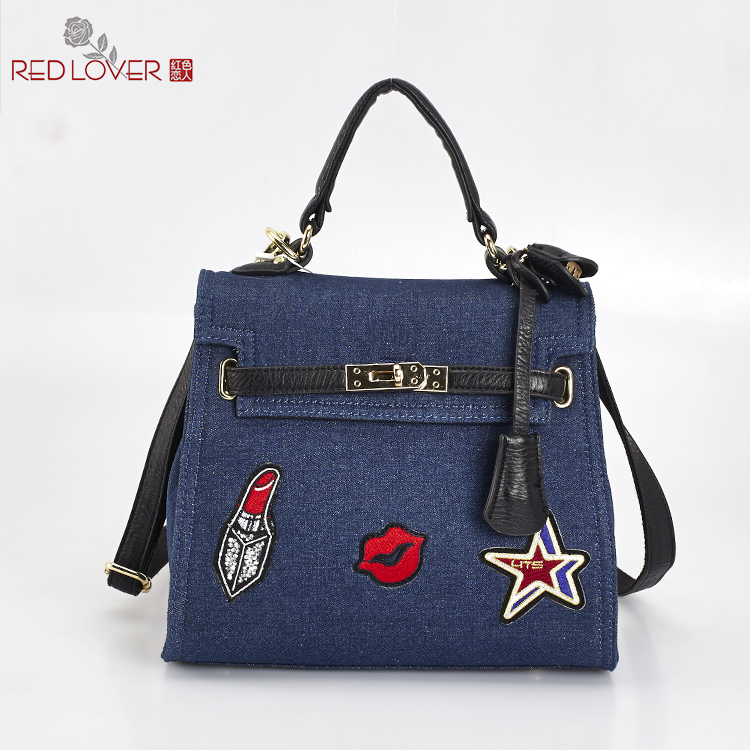 ФОТО Office lady handbag women's Canvas messenger bag Flap bag Female tote Red Lover crossbody bags wholesale