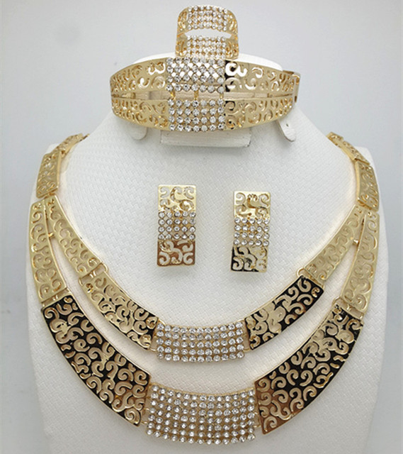 2016 fashion pearl dubai gold color set african beads costume acessories bridal wedding jewelry sets