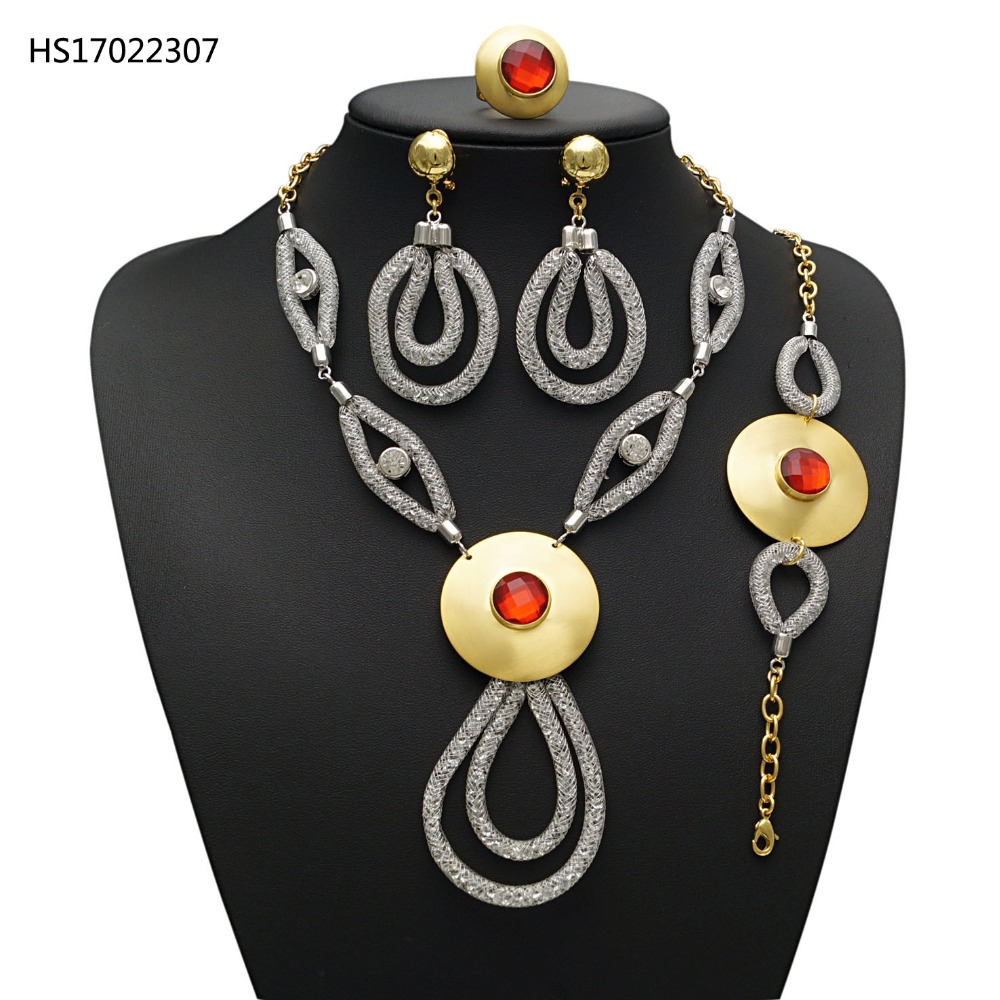 YULAILI New Coming 24 Karat Pure Gold Color Wedding Bridal Jewelry Sets Necklace Bracelet Earrings Ring Accessories Set yulaili new coming pure yellow flower bridal wedding jewelry set nigerian ladies party wedding accessories