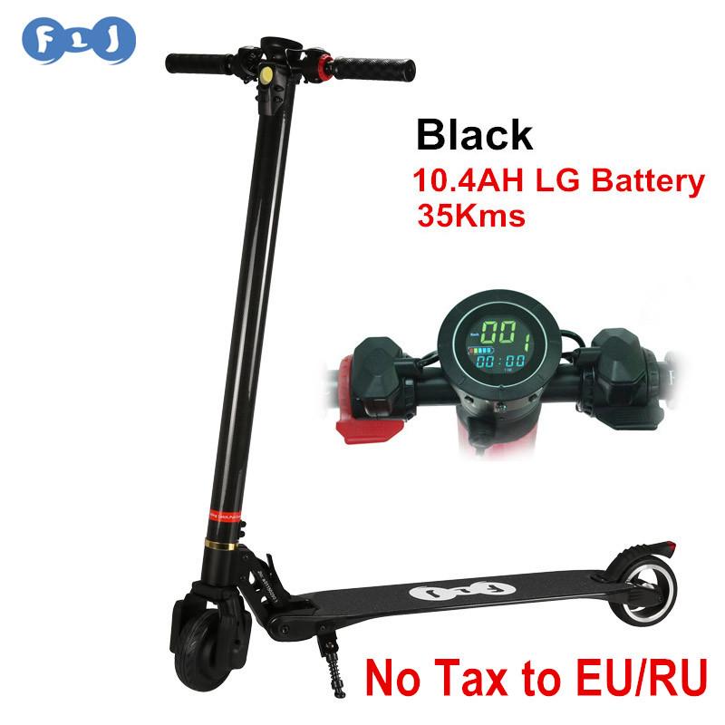 Prix pour Flj mise à niveau pliable électrique scooter en fiber de carbone planche à roulettes lg batterie 8.8ah/10.4ah vélo kick scooter pour enfants adulte