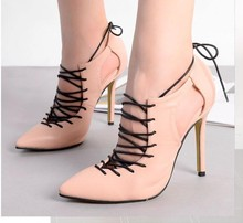 Fashion Sexy Strappy Stiletto High Heels Red Bottom High Heels Women's Shoes with Heels Wedding Party Women Pumps