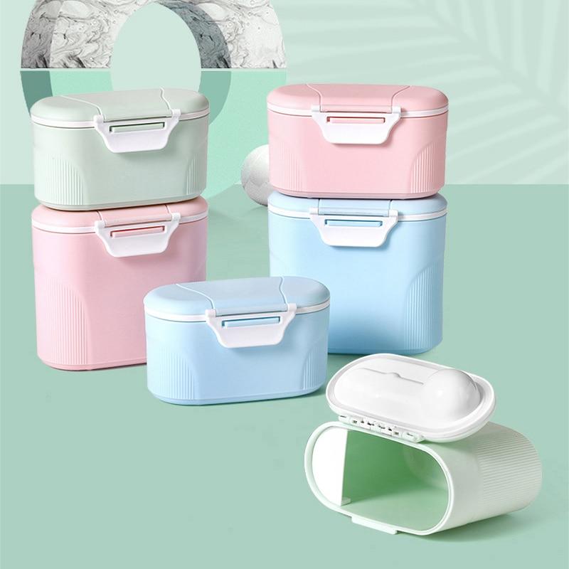 4 Layer Cartoon Milchpulver Lagerung Baby-milchpulver Container Tragbare Formel Lebensmittel Dispenser 4 Schicht Bilden Fütterung