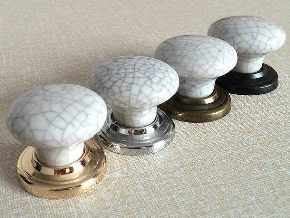 White Knobs Drawer Pulls Handles Crackle Cabinet Knobs Kitchen Door Knob Hardware  Antique Bronze Silver Gold