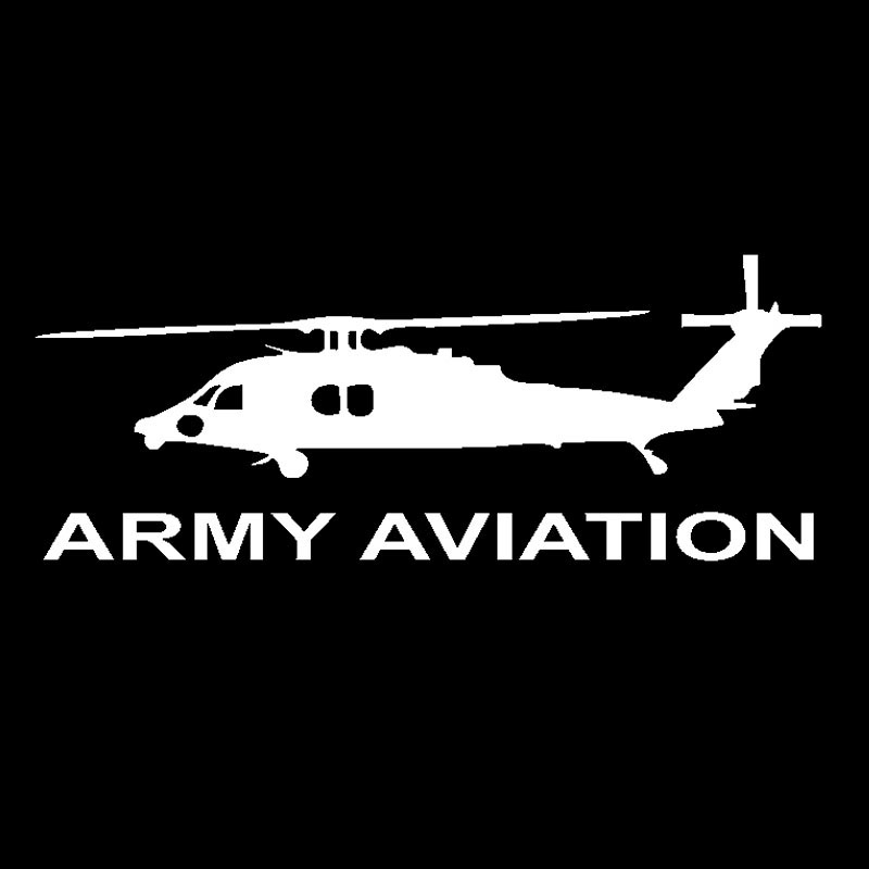 18*7CM Fashion ARMY AVIATION Graphical Vinyl Car Sticker Decal Black Silver Auto Body Exterior Accessories(China)