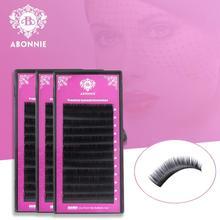 Abonnie 1 Case 0.05-0.25mm All Size JBCD Eyelash Extensions Mink Eyelash Extension Mink Black Fake False Eyelashes Curl