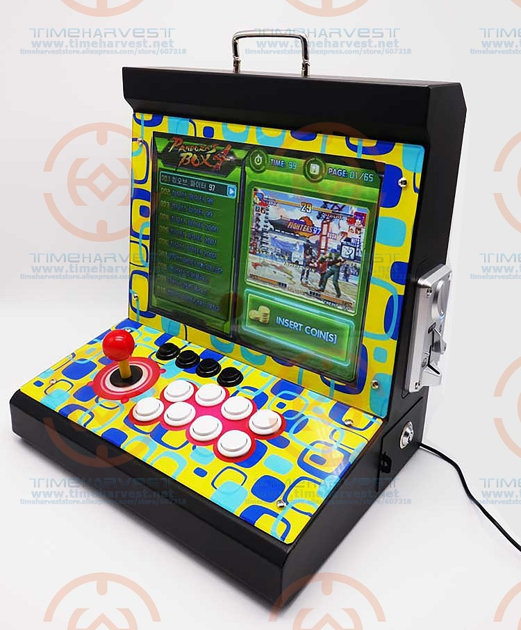 New Arrival 15 inchs LCD Coin Operated Mini Family Table Top Machine With 1388 in 1 Game PCB Normal joystick & Locking Buttons