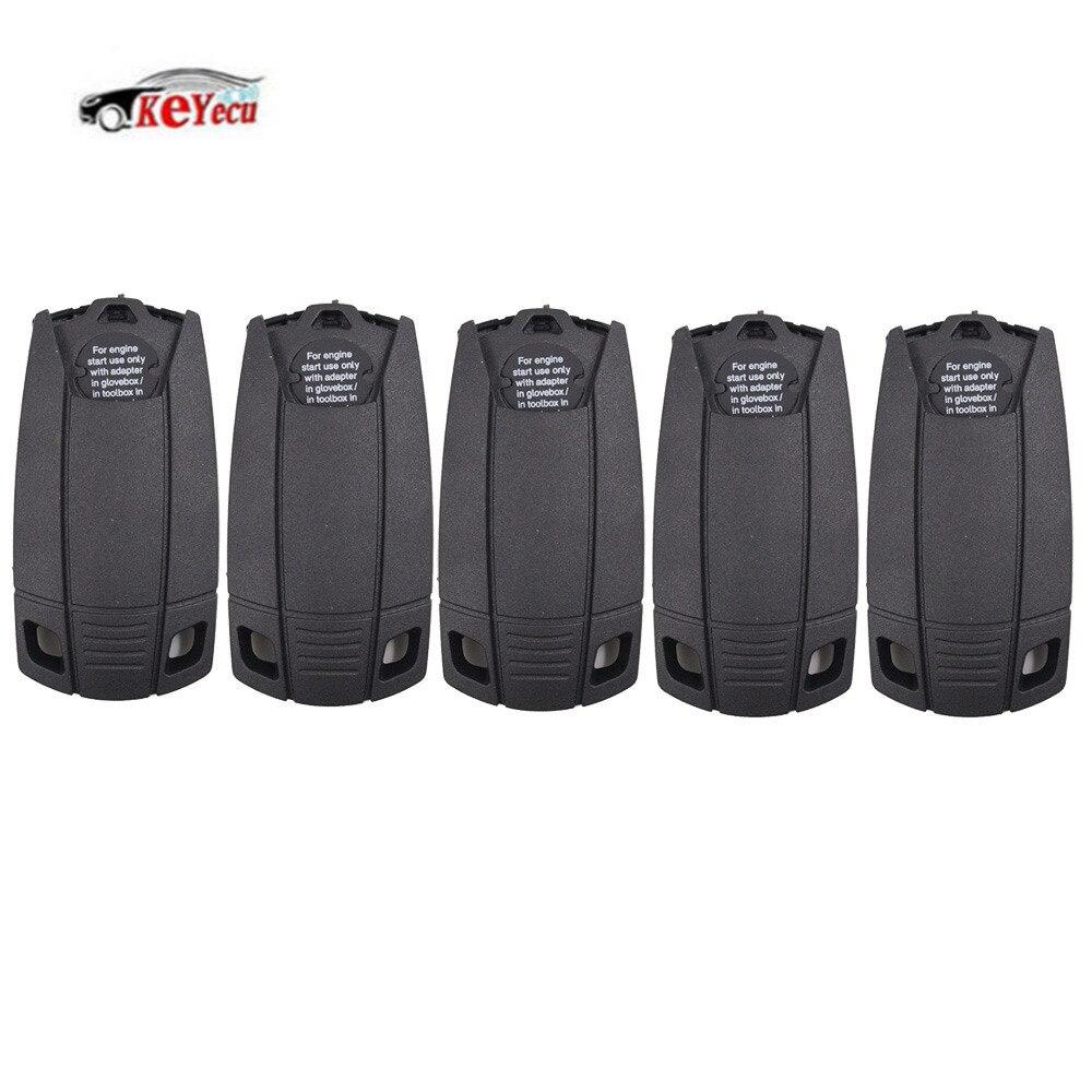 KEYECU 5/10 Pcs Lot transpondeur ID44 puce clé + adaptateur intelligent pour BMW X5 X6 E93 E92 E60 moteur démarrage avec la lame de clé en plastique