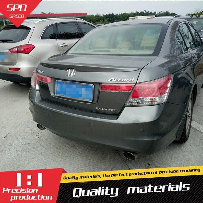For Honda Accord Spoiler High Quality ABS Material Car Rear Wing Primer Color Rear Spoiler For Honda Accord Spoiler YW 2008-2013