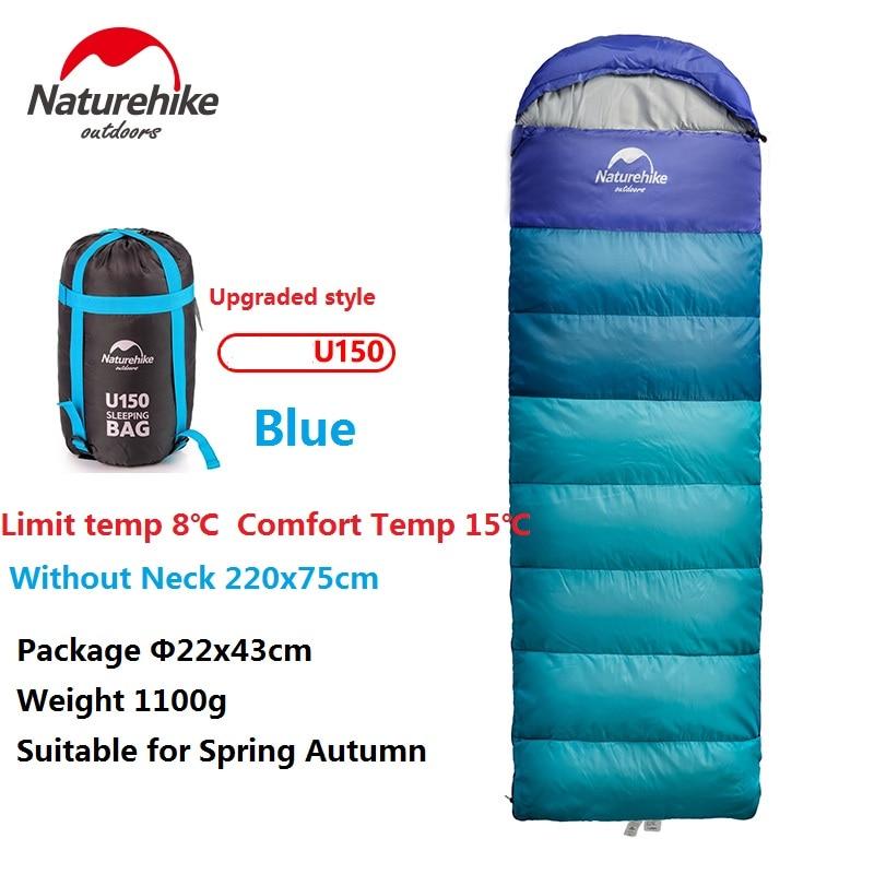 Naturehike Фабричный спальный мешок для путешествий на весну, осень, зиму, теплый портативный походный спальный мешок для взрослых в помещении - 3
