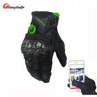 Riding Tribe Motorcycle Gloves Unisex Carbon Fiber Tortoise Shell Racing Guantes Gants Full Finger Touch Screen