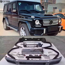 Hot Car body kit PU Unpainted front bumper rear Round eyebrows for Mercedes Benz G63 AMG BRABUS