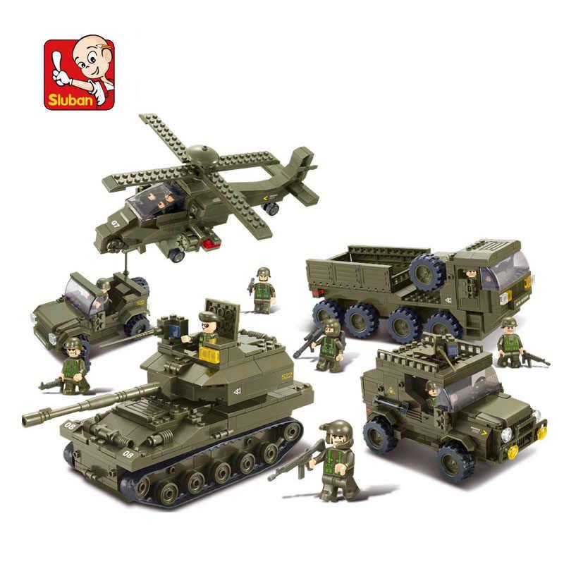 SLUBAN 0311 996 pièces bloc militaire armée Joint attaque camion blocs de Construction briques de Construction bricolage jouets loisirs pour enfants