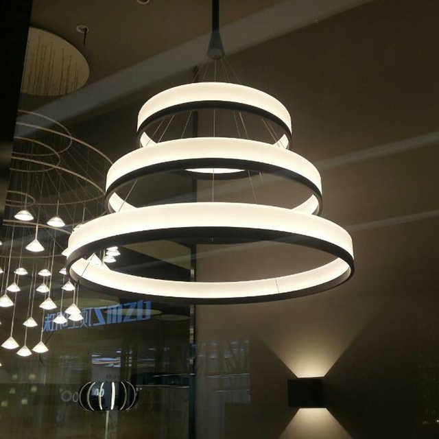 New chandeliers chandelier acryl ring led circle - Lampe cercle led ...