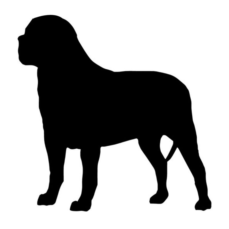 14 714 7cm Mastiff Dog Vinyl Decal Lovely Silhouette Stickers
