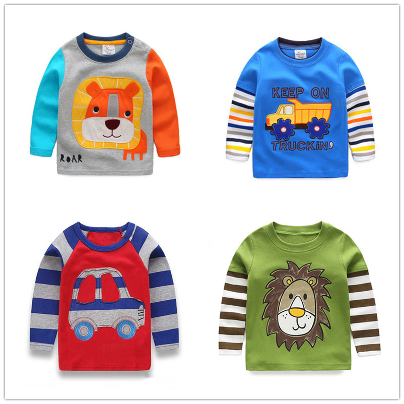 VIDMID 1-6Y Boys T-shirt Kids Tees Baby Boy shirts cardigan blouse jacket Children sweater Long Sleeve 100% Cotton lion cars