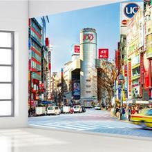 Пользовательские 3d росписи японская, Tokyo набор «городская улица» Обои кафе отдыха ресторан бар Спальня тема отельная софа обои