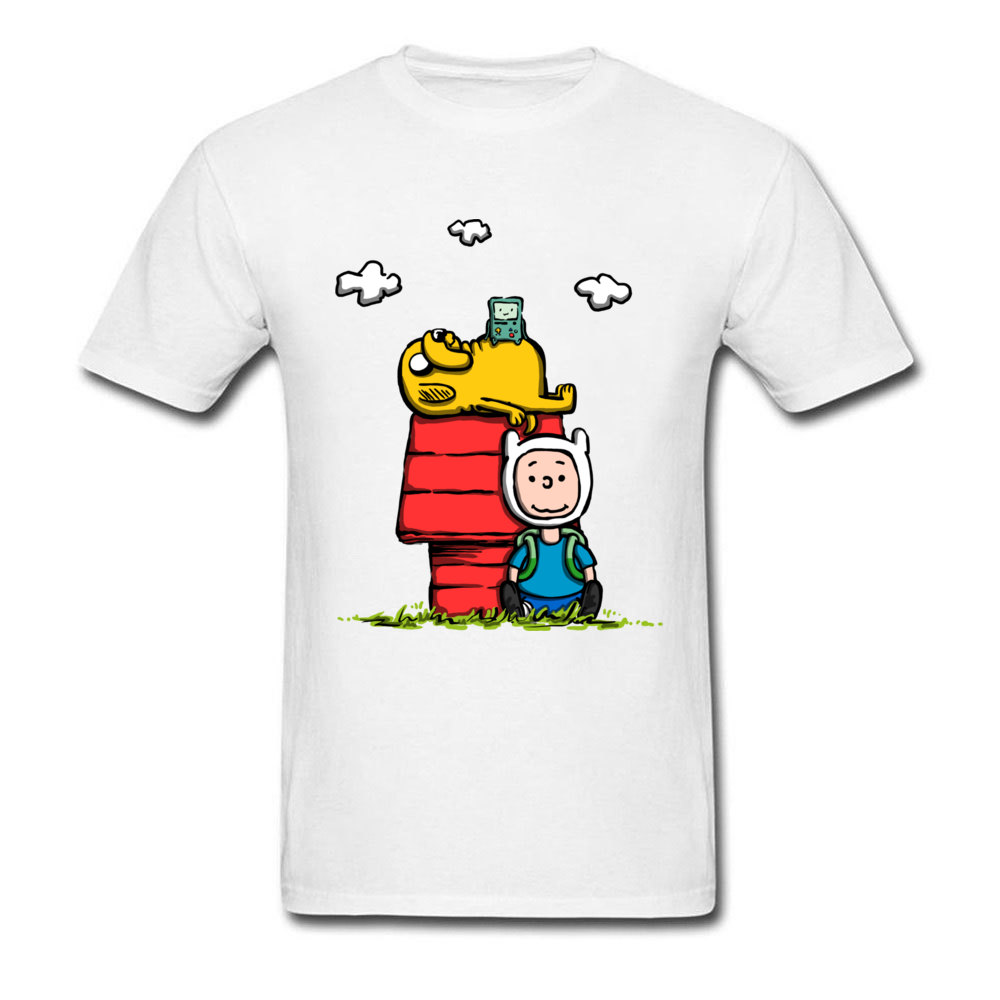 Funny New T Shirt Men's Tops Tees Adventure Time Party T-Shirt 100% Cotton Fabric Short Sleeve Cartoon Clothes Free Shipping