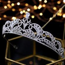 Asnora elegancka księżniczka Tiara ślubne tiary de noiva korony ślubne włosy ślubne akcesoria tanie tanio Moda Hairwear TRENDY A00026 Miedzi Księżyc Kobiety Cyrkonia Crystal Tiara Wedding Tiara Bridal Tiara Princess Tiara Bridal Crown Wedding Crown Princess Crown Queen Crown