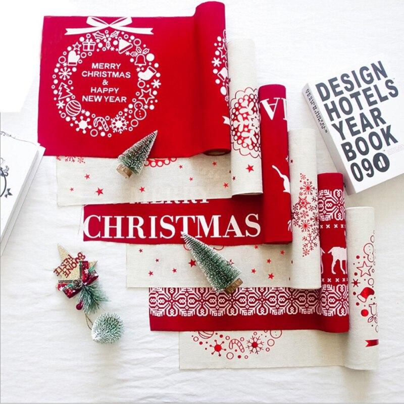 Klassische Weihnachten Tisch Läufer Rentier Frohe Weihnachten Reben ...