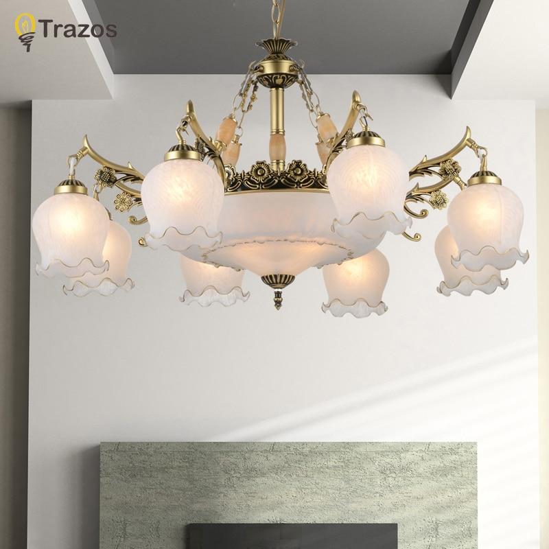 2018 Nouvelle Arrivée Offre Spéciale lustre véritable alliage vintage lustres main d'or haute qualité LED chandlier lampada LED