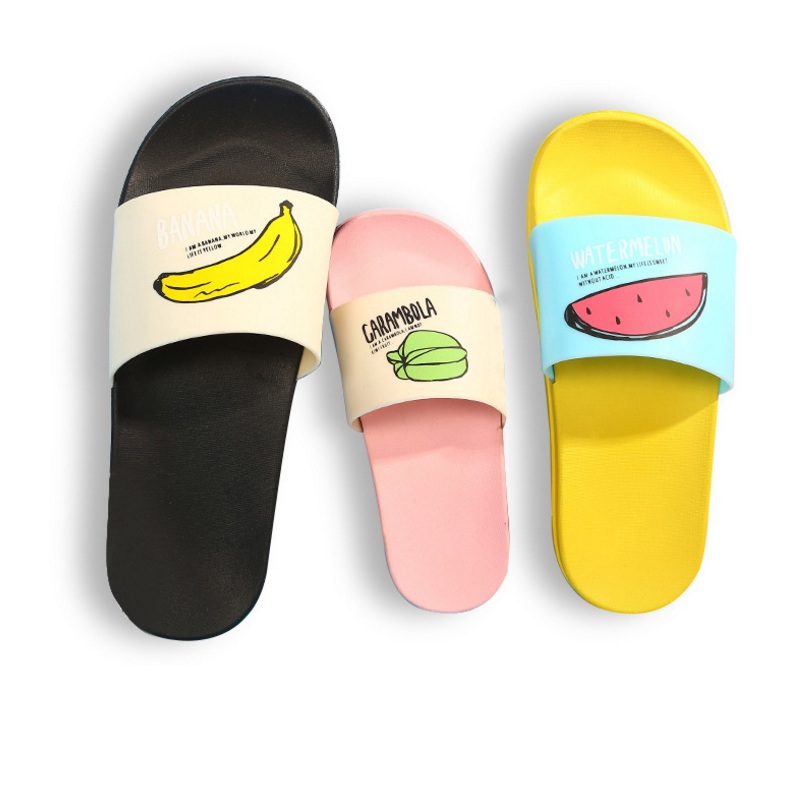 New Men Slippers Fashion Summer Lovely Ladies Casual Slip On Fruit Jelly Beach Flip Flops Slides Woman Skid Indoor Shoes Slippers Shoes
