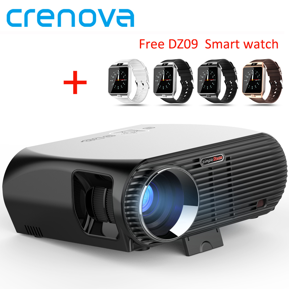 Crenova Android 6.0.1 LED Projector GP100UP 1280x800 Resolution 3500 Lumens Built-in WIFI Bluetooth DLAN Miracast Air Proyector aun projector 3200 lumen t90 1280 768 optional android projector with 2 4g air mouse bluetooth wifi support kodi ac3 led tv