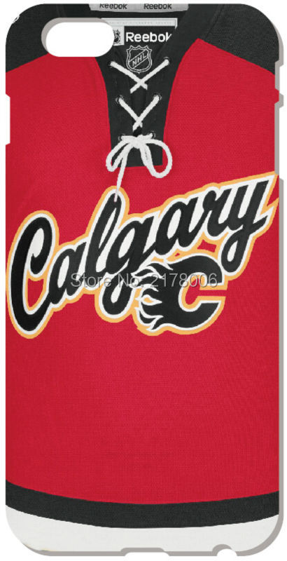 Retail NHL Calgary Flames Hard Back Cell Phone Case Cover For iphone 4 4S 5 5S SE 5C 6 6S Plus For iPod Touch 4 5 6 Mobile Cases