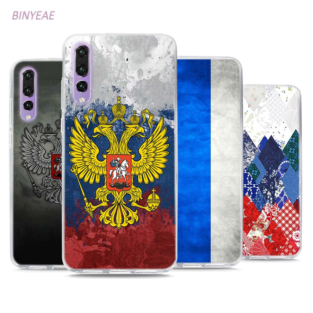 BINYEAE Russia Coat of arms Double headed eagle Style Clear Soft TPU Phone Cases for Huawei P20 Lite Honor 9 8 Lite 7X 6A 6X 6C