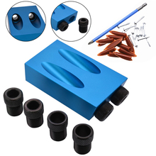 28pcs/set 15 degree Oblique Hole Inclined Hole Positioner Kit Guide Angle Drill Bit Locator Set Woodworking Tool