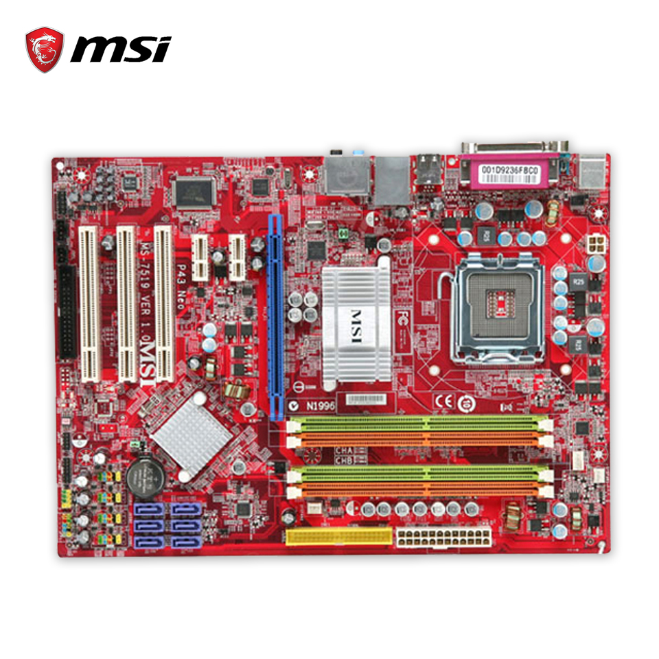 MSI P43 Neo-F Original Used Desktop Motherboard P43 Socket LGA 775 DDR2 16G SATA2 USB2.0 ATX new 680w sheep wool clipper electric sheep goats shearing clipper shears 1 set 13 straight tooth blade comb