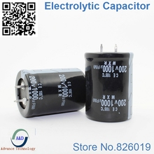2pcs/lot 200V 1000UF Radial DIP Aluminum Electrolytic Capacitors size 30*35 1000UF 200V Tolerance 20%