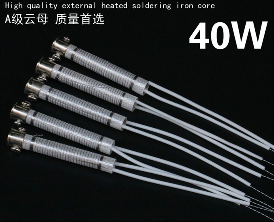 10pcs High Quality 220V 40W Soldering Iron Core Heating Element Replacement Spare Part Welding Tool Electric iron core