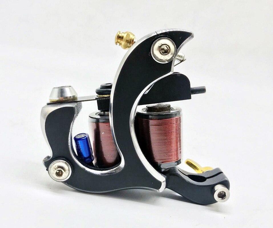 Puissance Dragon Top qualité Cobra pur fait à la main 12 enveloppes bobine Machine à tatouer revêtement Shader livraison gratuite