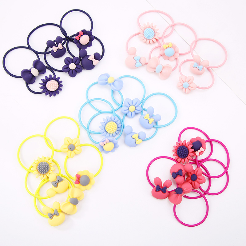 2PCS Hot Sale Little Girls Macarons color Hair Rope Chilren Kids Elastic Hair Bands Hair Accessories Gift hot sale hair accessories headband styling tools acessorios hair band hair ring wholesale hair rope