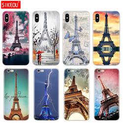 Силиконовый чехол для телефона чехол для iPhone 6X8 7 6s 5 5S SE Plus 10 XR XS Max Case Париж Эйфелева башня
