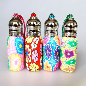 Image 4 - 20pcs 50pcs 6ml Roll On Perfume Bottles Polymer Clay Glass Bottle Refillable Essential Oil Vials with Metal Roller Ball