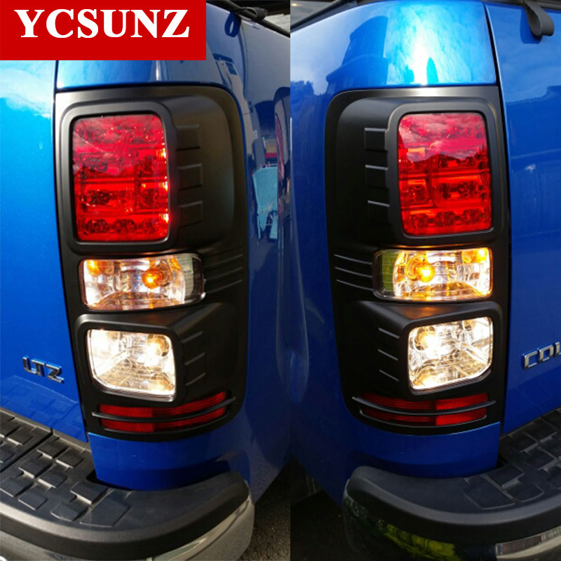 2012 2015 Black Tail Lights Trim For Holden Chevy Colorado