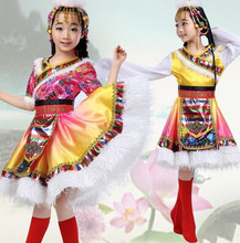 national dance costumes for girls Sinkiang clothing chinese mongolia children mongolia clothes for children festive costume