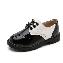 Spring Fashion Wedding Dress Children's Leather Shoes For Girls Boys Sc