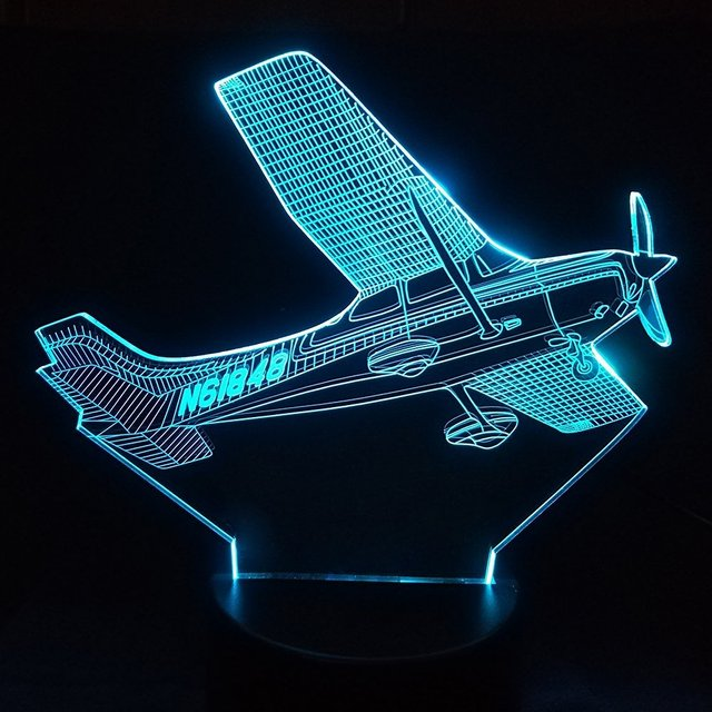 3D LED Aircraft Table Lamp