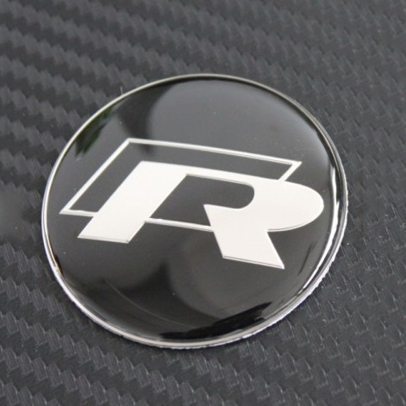 45mm R Logo Car Steering Wheel Badge Sticker Decals logo ...