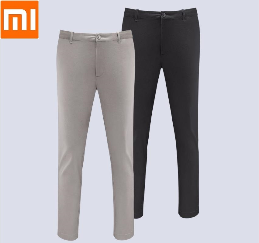 New Xiaomi 90 Men Urban Casual Pants Solid color Spring Cotton Comfortable Mid waist Straight leg