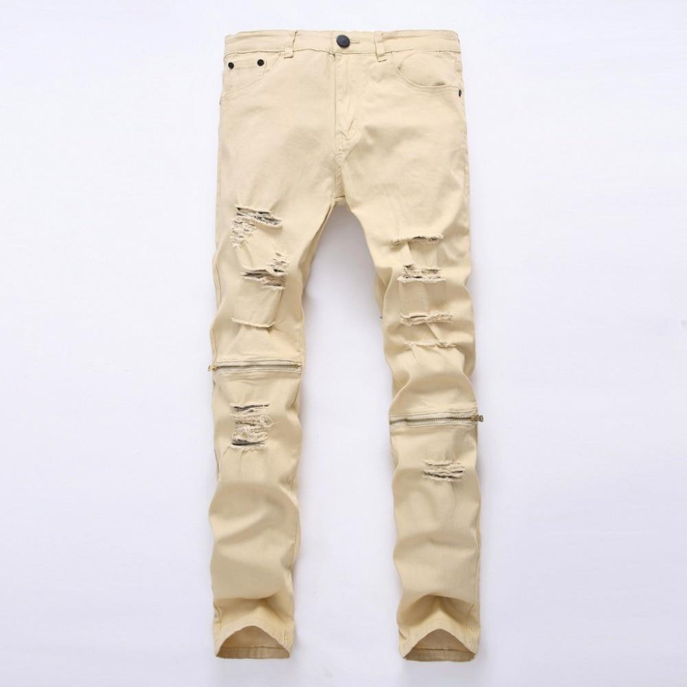 EVJSUSE hip hop Men Jeans masculina Casual Denim distressed Solid Slim denim pants Brand skinny jeans ripped jeans homme zipper hip hop men jeans masculina casual denim distressed mens slim fit jeans pants brand biker jeans straight rock ripped jeans homme